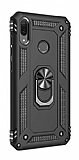 Eiroo Magnet Ring Huawei Y7 2019 Ultra Koruma Siyah Kılıf