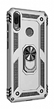 Eiroo Magnet Ring Huawei Y7 2019 Ultra Koruma Silver Kılıf