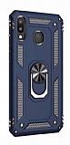 Eiroo Magnet Ring Huawei Y7 Prime 2019 Ultra Koruma Lacivert Kılıf
