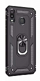 Eiroo Magnet Ring Huawei Y7 Prime 2019 Ultra Koruma Siyah Kılıf