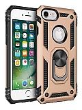 Eiroo Magnet Ring iPhone 7 / 8 Ultra Koruma Gold Kılıf