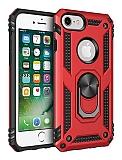Eiroo Magnet Ring iPhone 7 / 8 Ultra Koruma Kırmızı Kılıf