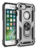Eiroo Magnet Ring iPhone 7 / 8 Ultra Koruma Silver Kılıf