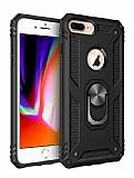Eiroo Magnet Ring iPhone 7 Plus / 8 Plus Ultra Koruma Siyah Kılıf
