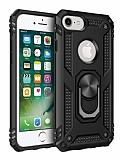Eiroo Magnet Ring iPhone SE / 5 / 5S Ultra Koruma Siyah Kılıf