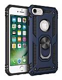 Eiroo Magnet Ring iPhone SE / 5 / 5S Ultra Koruma Lacivert Kılıf
