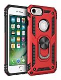 Eiroo Magnet Ring iPhone SE / 5 / 5S Ultra Koruma Kırmızı Kılıf