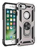 Eiroo Magnet Ring iPhone SE / 5 / 5S Ultra Koruma Silver Kılıf