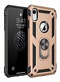 Eiroo Magnet Ring iPhone XR Ultra Koruma Gold Kılıf