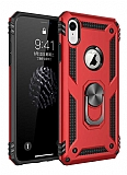 Eiroo Magnet Ring iPhone XR Ultra Koruma Kırmızı Kılıf