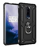 Eiroo Magnet Ring OnePlus 7 Pro Ultra Koruma Siyah Kılıf