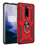 Eiroo Magnet Ring OnePlus 7 Pro Ultra Koruma Kırmızı Kılıf