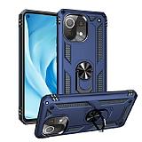 Eiroo Magnet Ring Xiaomi Mi 11 Lite Ultra Koruma Mavi Kılıf