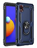 Eiroo Magnet Ring Samsung Galaxy A01 Core Ultra Koruma Lacivert Kılıf