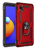 Eiroo Magnet Ring Samsung Galaxy A01 Core Ultra Koruma Kırmızı Kılıf