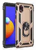Eiroo Magnet Ring Samsung Galaxy A01 Core Ultra Koruma Gold Kılıf
