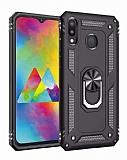 Eiroo Magnet Ring Samsung Galaxy A20 / A30 Ultra Koruma Siyah Kılıf