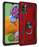 Eiroo Magnet Ring Samsung Galaxy A41 Ultra Koruma Kırmızı Kılıf