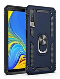 Eiroo Magnet Ring Samsung Galaxy A7 2018 Ultra Koruma Lacivert Kılıf