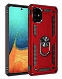 Eiroo Magnet Ring Samsung Galaxy A71 Ultra Koruma Kırmızı Kılıf