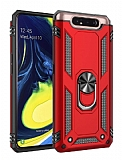 Eiroo Magnet Ring Samsung Galaxy A80 Ultra Koruma Kırmızı Kılıf
