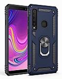 Eiroo Magnet Ring Samsung Galaxy A9 2018 Ultra Koruma Lacivert Kılıf