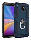 Eiroo Magnet Ring Samsung Galaxy J6 Plus Ultra Koruma Lacivert Kılıf