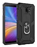 Eiroo Magnet Ring Samsung Galaxy J6 Plus Ultra Koruma Siyah Kılıf