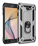 Eiroo Magnet Ring Samsung Galaxy J7 Prime / Prime 2 Ultra Koruma Silver Kılıf