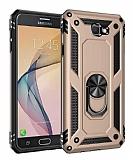 Eiroo Magnet Ring Samsung Galaxy J7 Prime / Prime 2 Ultra Koruma Gold Kılıf