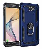 Eiroo Magnet Ring Samsung Galaxy J7 Prime / Prime 2 Ultra Koruma Lacivert Kılıf