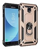 Eiroo Magnet Ring Samsung Galaxy J7 Pro 2017 Ultra Koruma Gold Kılıf