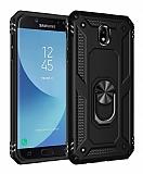Eiroo Magnet Ring Samsung Galaxy J7 Pro 2017 Ultra Koruma Siyah Kılıf