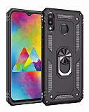 Eiroo Magnet Ring Samsung Galaxy M20 Ultra Koruma Siyah Kılıf