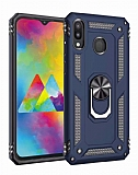 Eiroo Magnet Ring Samsung Galaxy M20 Ultra Koruma Lacivert Kılıf