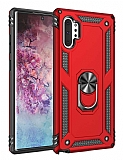 Eiroo Magnet Ring Samsung Galaxy Note 10 Plus Ultra Koruma Kırmızı Kılıf