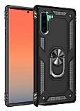 Eiroo Magnet Ring Samsung Galaxy Note 10 Ultra Koruma Siyah Kılıf