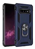 Eiroo Magnet Ring Samsung Galaxy Note 8 Ultra Koruma Lacivert Kılıf