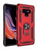 Eiroo Magnet Ring Samsung Galaxy Note 9 Ultra Koruma Kırmızı Kılıf