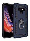 Eiroo Magnet Ring Samsung Galaxy Note 9 Ultra Koruma Lacivert Kılıf