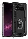 Eiroo Magnet Ring Samsung Galaxy S10 Ultra Koruma Siyah Kılıf