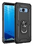 Eiroo Magnet Ring Samsung Galaxy S8 Plus Ultra Koruma Siyah Kılıf