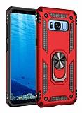 Eiroo Magnet Ring Samsung Galaxy S8 Ultra Koruma Kırmızı Kılıf