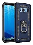 Eiroo Magnet Ring Samsung Galaxy S8 Ultra Koruma Lacivert Kılıf