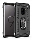Eiroo Magnet Ring Samsung Galaxy S9 Ultra Koruma Siyah Kılıf