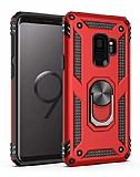 Eiroo Magnet Ring Samsung Galaxy S9 Ultra Koruma Kırmızı Kılıf