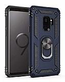 Eiroo Magnet Ring Samsung Galaxy S9 Ultra Koruma Lacivert Kılıf