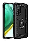 Eiroo Magnet Ring Xiaomi Mi 10T Pro 5G Ultra Koruma Siyah Kılıf