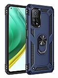 Eiroo Magnet Ring Xiaomi Mi 10T Pro 5G Ultra Koruma Lacivert Kılıf
