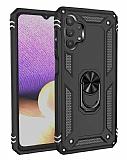 Eiroo Magnet Ring Samsung Galaxy A32 5G Ultra Koruma Siyah Kılıf